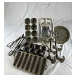 Collection of Vintage Kitchen Metal Wares