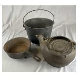 3 Pieces Vintage Cast Iron Kitchen Ware