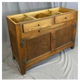 Vintage Oak Kitchen Cabinet / Counter