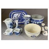 Collection of Vintage Blue and White Dishware