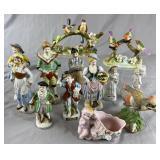 Collection of Vintage Porcelain Figurines