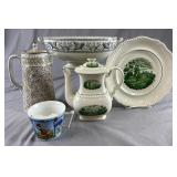 Group of Decorative Vintage  Pottery and Porcelain
