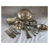 Group of Ornate Vintage and Antique Silverplate