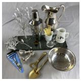 Group of Miscellaneous Vintage Bar Ware