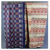 2 Vintage Woven Coverlets