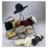 Collection of Vintage Purses, Gloves and Hats REO