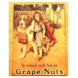 Metal Grape Nuts Sign