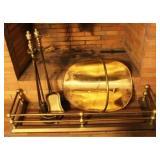 Brass Fireplace 3 piece Set