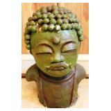 """Oriental Art Pottery Head - 14"""" tall"""