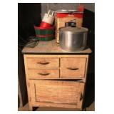 Vintage Cabinet w/ Assorted Items