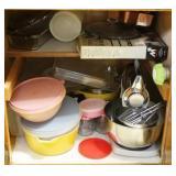 Cabinet Contents w/ Sunbeam Mixer