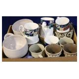 Box lot of coffee mugs