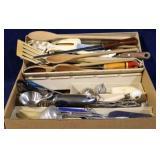 Box lot of kitchen utencils