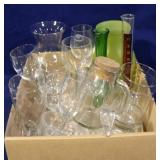 Box lot of assorted glasswares