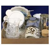 Box lot of assorted kitchen items