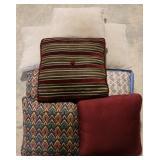 Group of throw pillows