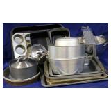 Group of Kitchen Cooking ware
