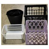 Group of plastic baskets/crates