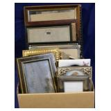 Box lot of assorted frames
