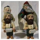 4 pc Anderson Christmas figures