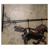 Copper horse shingle