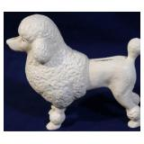 cast iron poodle bank