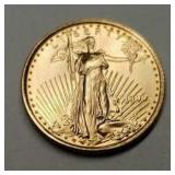 1999 - 1/10 Ounce American Eagle Gold Coin #1