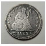 1853 U.S. Seated Liberty Quarter