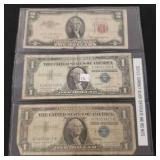 Old U.S. Currency Silver Certificate & Red Note