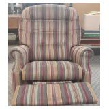 Lazyboy Brown/Wine Striped Recliner