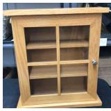 Small Oak Cabinet w/Glass Door
