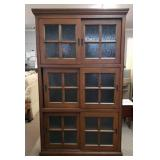 Very beautiful bookcase w/ Sliding Doors