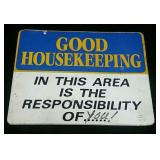 Vintage House Keeping Sign