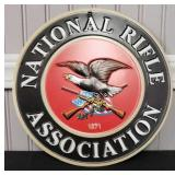 1871 National Rifle Association Metal Sign