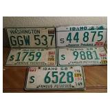 Vintage Washington & Idaho License Plate