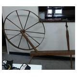 Antique Walking Spinning Wheel