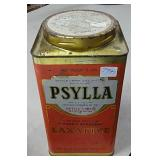 Vintage Orange Psylla Psyllium Tin