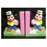 Vintage Disney Glass Bookends