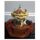 Santa Clause Electric Carousel Music Box
