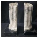 Marble Piller Book Ends