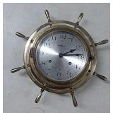 Vintage Howard Miller Ships Brass Clock