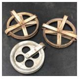 3 Vintage Speedline Pulleys