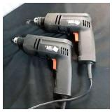 2 Black & Decker Hand Drills