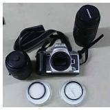 Minolta Camera & 2 AD Lenses & Bag