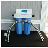 New Big Blue Water Filter System Under Counter