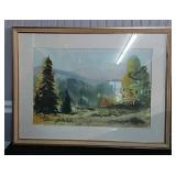 Signed Watercolor by R. Kettlekamp