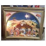 Light Up Nativity Scene Wall Hanging