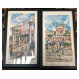 2 A. Bernardon Watercolor Prints Roma