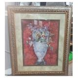 Signed Framed print of a vase