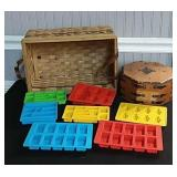 Basket w/Octagonal Box & Lego Molds
